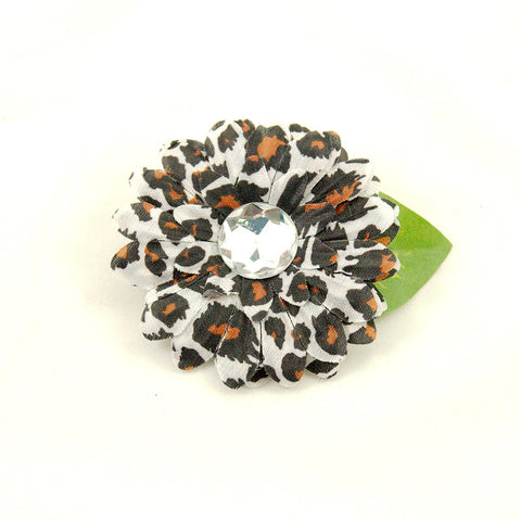 Cats Like Us Cheetah Mini Bling Hair Flower for sale at Cats Like Us - 1