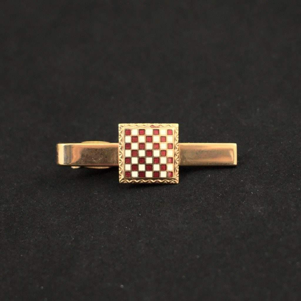 Chess Board Tie Bar - Cats Like Us
