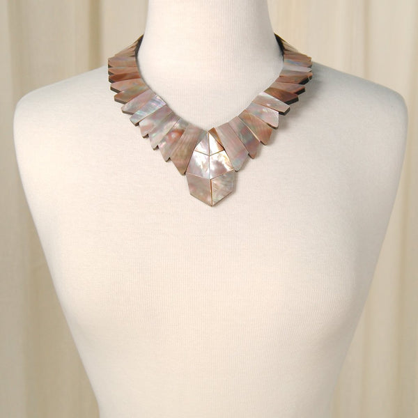 Chunky Mother of Pearl Necklace