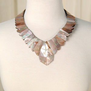 Chunky Mother of Pearl Necklace - Cats Like Us