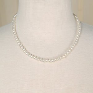 Classic Faux Pearl Necklace