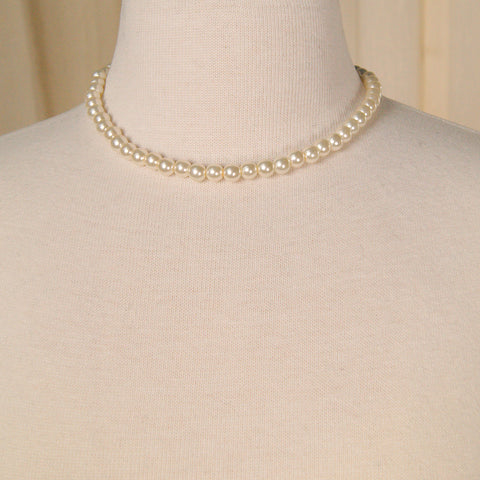 Classic Pearl Necklace by Vintage Collection by Cats Like Us : Cats Like Us