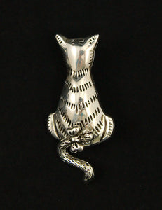 Cats Like Us Cold Shoulder Cat Brooch Pin for sale at Cats Like Us - 1