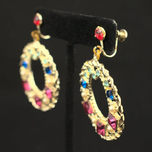 Colorful Rhinestone Earrings - Cats Like Us