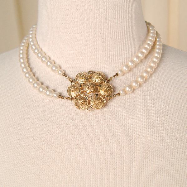 Coventry Pearl Necklaces & Pin by Vintage Collection by Cats Like Us : Cats Like Us