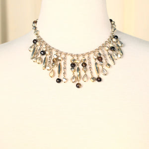 Dangling Gold Bead Vintage Necklace