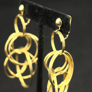 Dangling Gold Rings Earrings