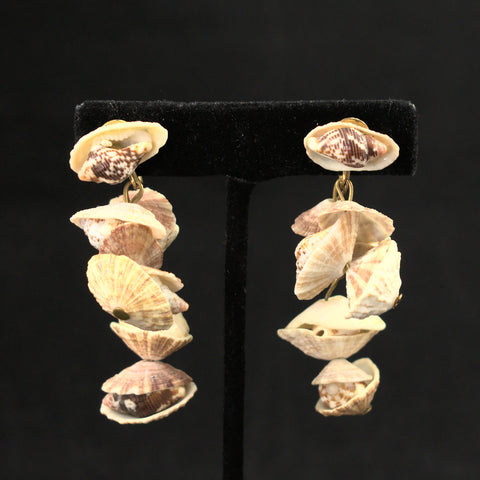Dangling Shell Vintage Earrings