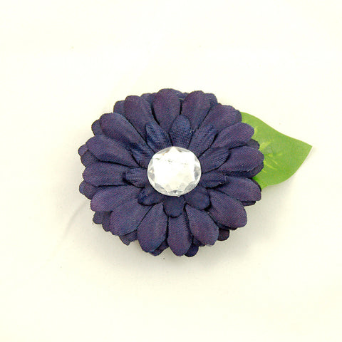 Cats Like Us Dark Plum Mini Bling Flower for sale at Cats Like Us - 1