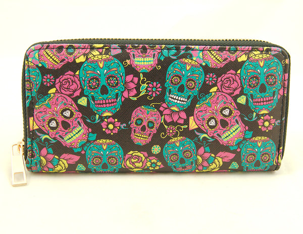 Day of the Dead Skull Wallet by Cats Like Us : Cats Like Us