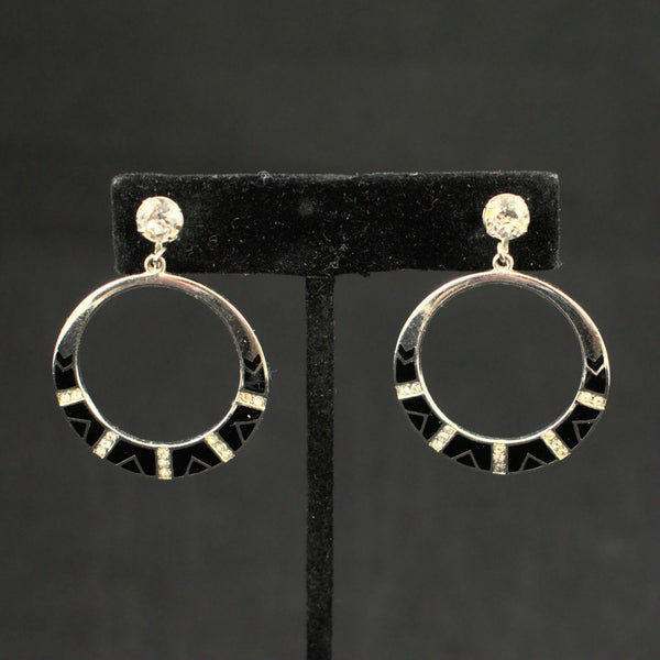 Deco Ring Hoop Earrings