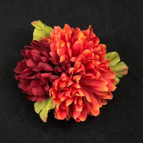 Deep Red Cluster Hair Flower - Cats Like Us