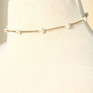 Delicate Pearl & Chain Necklace - Cats Like Us