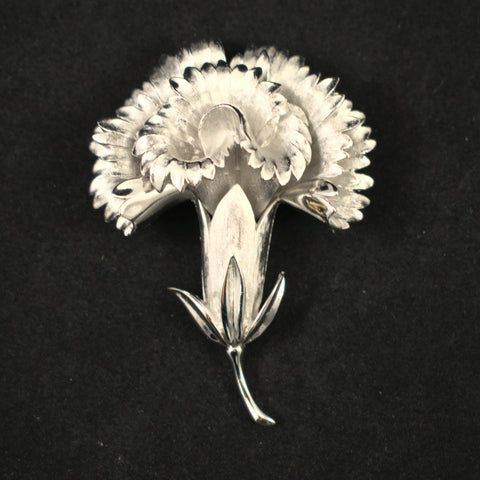 Vintage Dimensional Carnation Brooch