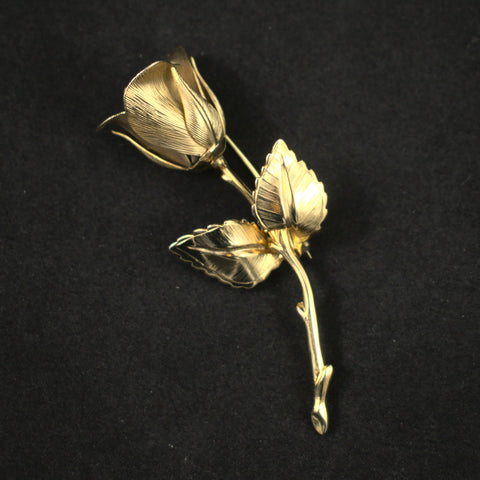 Vintage Dimensional Rose Brooch