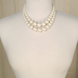 Double Faux Pearl Necklace