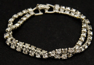 Double Rhinestone Bracelet - Cats Like Us