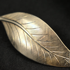 Simple Leaf Brooch Pin