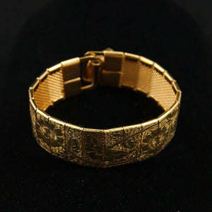 Embossed Floral Mural Bracelet - Cats Like Us