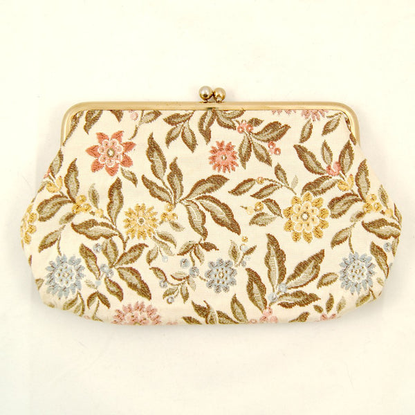Embroidered Floral Clutch - Cats Like Us