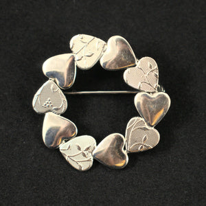 Everlasting Heart Vintage Wreath Brooch