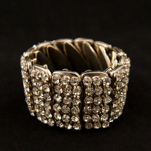 Expandable Rhinestone Bracelet by Vintage Collection by Cats Like Us : Cats Like Us