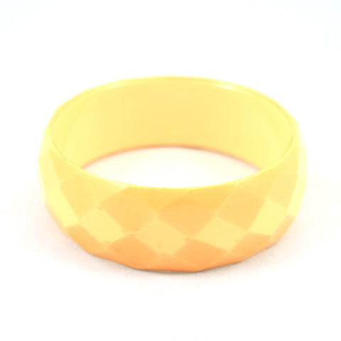 Faceted Bakelite Yellow Bangle