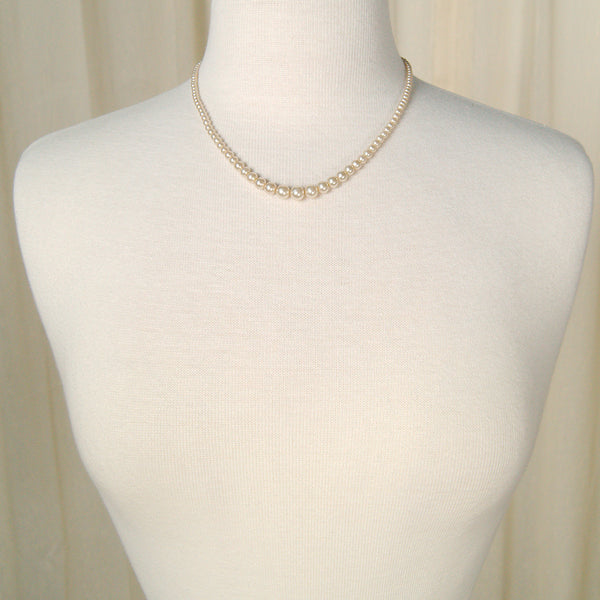 Faux Graduated Pearl Necklace