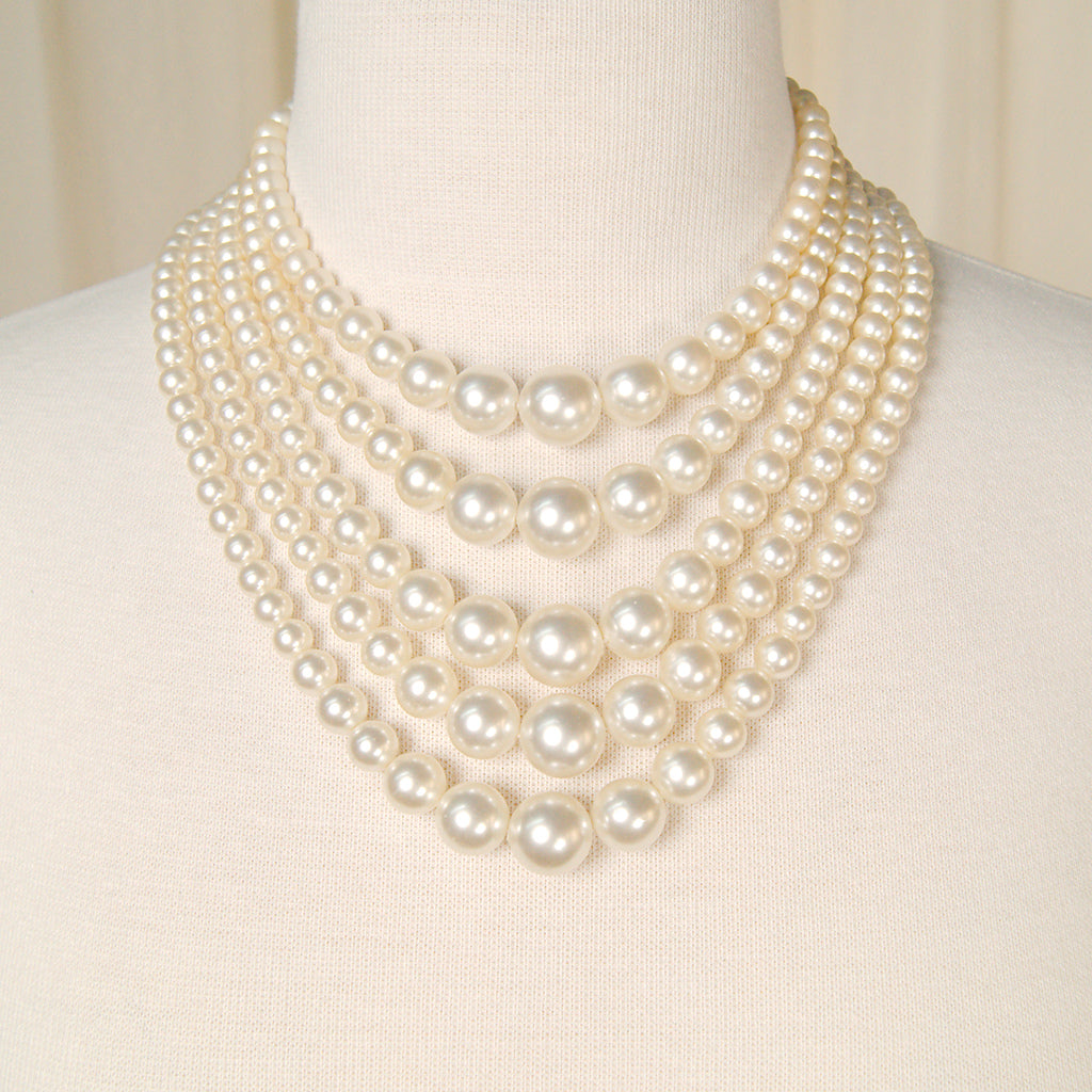 Five Strand Pearl Necklace