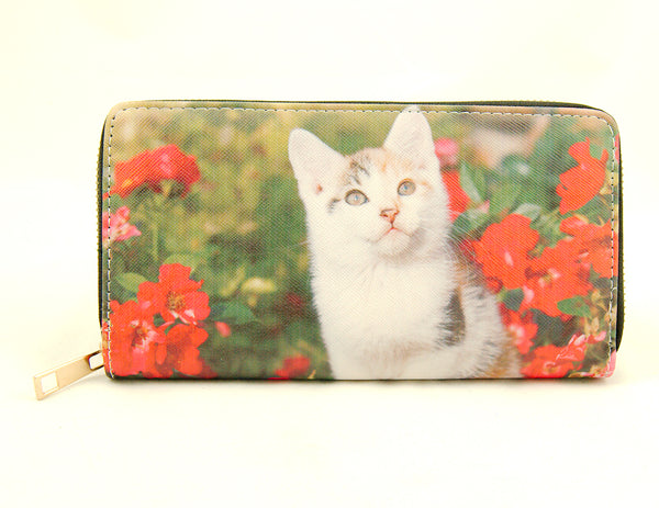 Garden Kitten Wallet by Cats Like Us : Cats Like Us