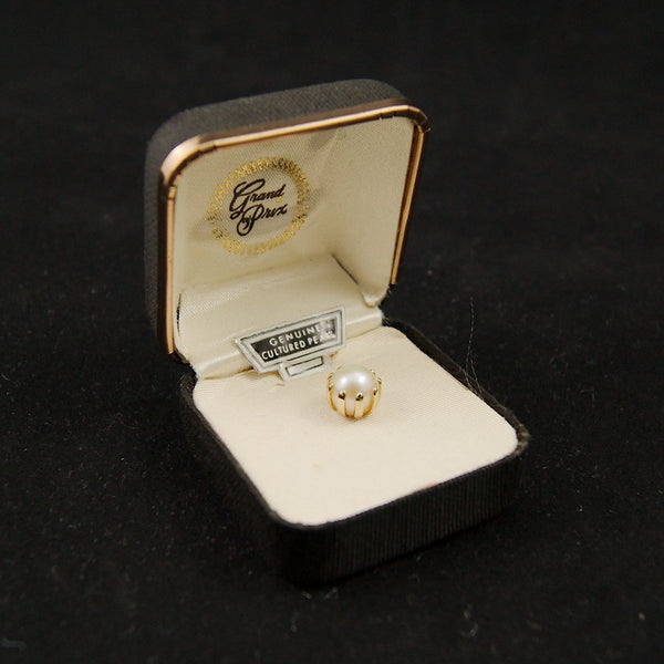 Genuine Pearl Tie Tack - Cats Like Us