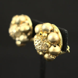 Gold Bead Cluster Earrings - Cats Like Us