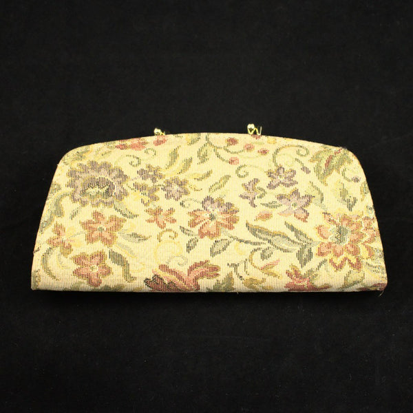 Gold Floral Change Purse - Cats Like Us