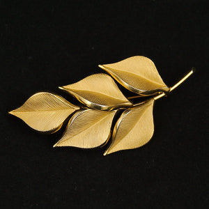 Gold Leaf Brooch