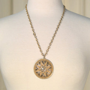 Gold Medallion Necklace - Cats Like Us
