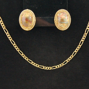 Gold Necklace & Earring Set