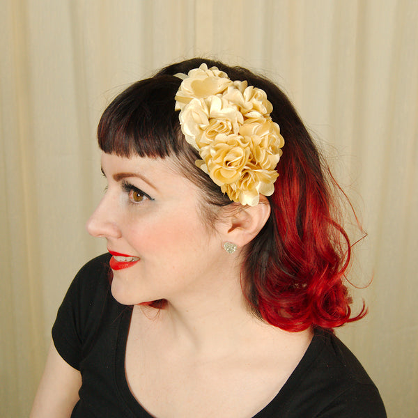 Gold Rosette Headband by Cats Like Us : Cats Like Us