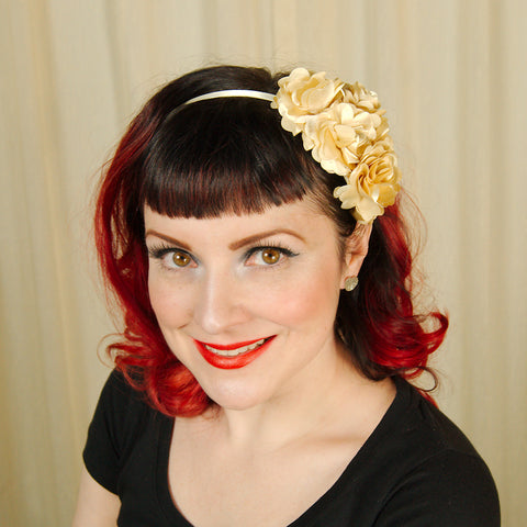 Gold Rosette Headband - Cats Like Us