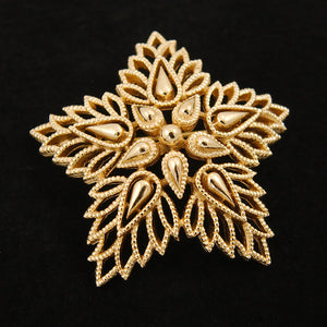 Gold Star Brooch