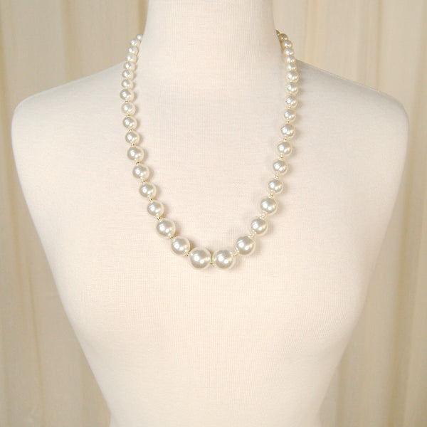 Graduated Pearl Chunky Necklace