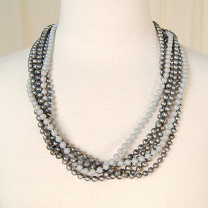 Gray Six Strand Necklace