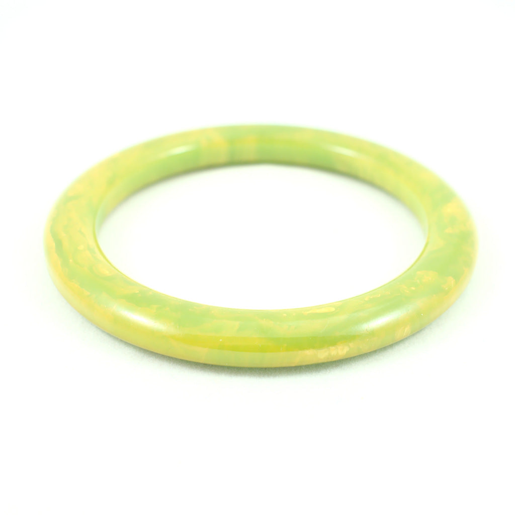 Green & Yellow Bakelite Bangle