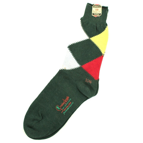 Green Argyle Crew Socks - Cats Like Us