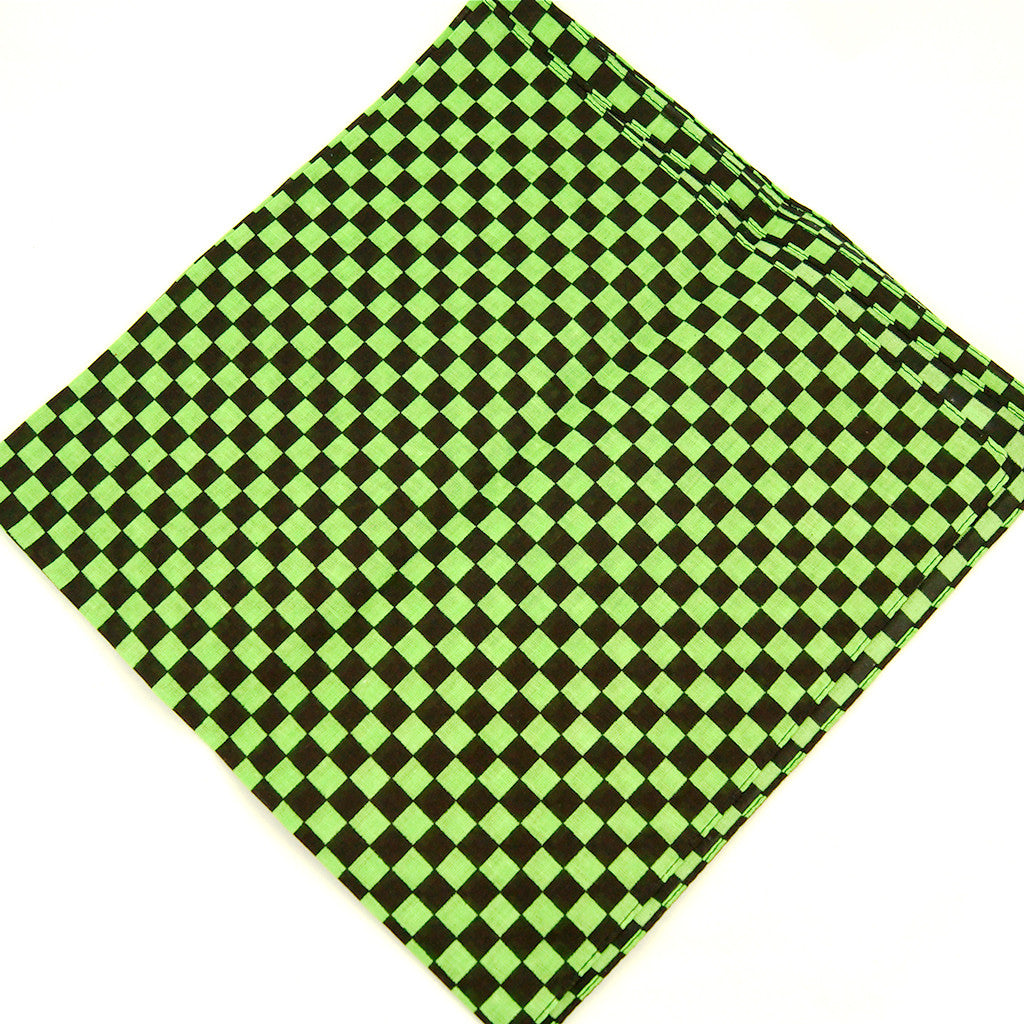 Green Checker Bandana by Cats Like Us : Cats Like Us