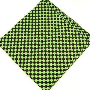 Green Checker Bandana - Cats Like Us