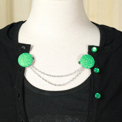 Green Olive Sweater Clips