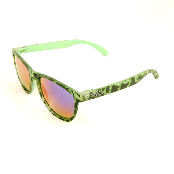 Cats Like Us Green Psychobilly Zebra Sunnies for sale at Cats Like Us - 2