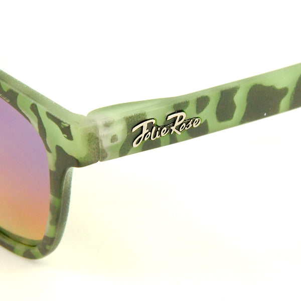 Cats Like Us Green Psychobilly Zebra Sunnies for sale at Cats Like Us - 3