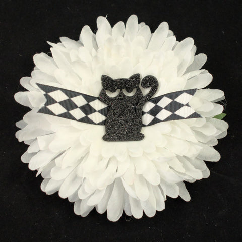 Hep Black Cat Hair Flower - Cats Like Us