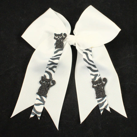 Hep Cat White Hair Bow - Cats Like Us